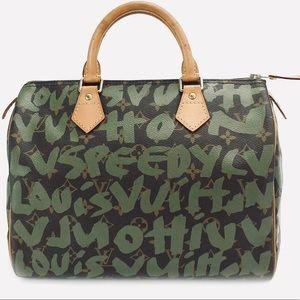 Louis Vuitton Rare Green Graffiti Speedy 30 💚